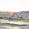 """Sunrise at Gist Bottom"" (watercolor) by Paul Tunkis"