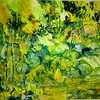 """Green Light"" (Knifed Watercolors®) by Marian Christy"