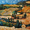 """Toscana"" (oil on board) by Lelya Borisenko"