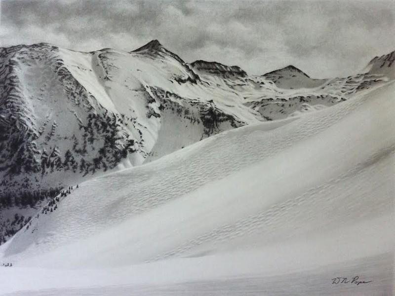 """Telluride"" (pencil and graphite powder) by David Pope"