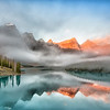 """Early Morning Fog Over Lake Moraine"" (photography) by Ronald Santini"
