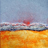 """Tramonto (sunset)"" (oil painting , silver leaf on canvas) by 	Oscar Coffani"