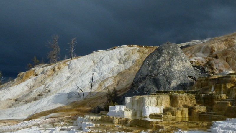 """""""Mammoth Hot Springs, Yellowstone"""" (photography) by Martin Veselich"""