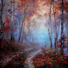 """Deep Forest"" (oil on canvas) by Gina Parfene"