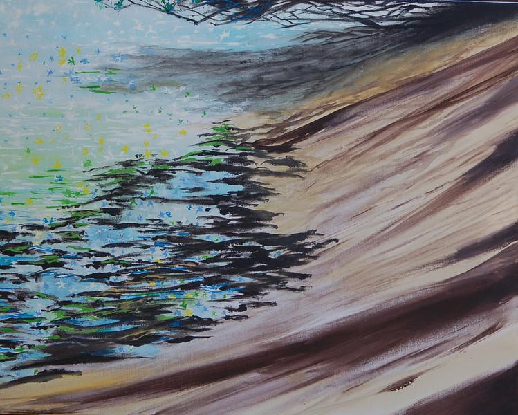 """Noon Confetti"" (acrylic) by Tricia Hoye"