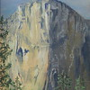 """El Capitan, Yosemite National Park, CA"" (oil on linen) by Emily Sullivan"