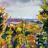"""Autumn in Munich"" (oil on canvas) by Marina Pospelova"