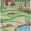 """My Village"" (pastel) by Kusum Lata"