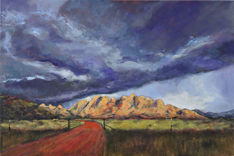 """The East Gate"" (oil on board) by Diane Fairfield"