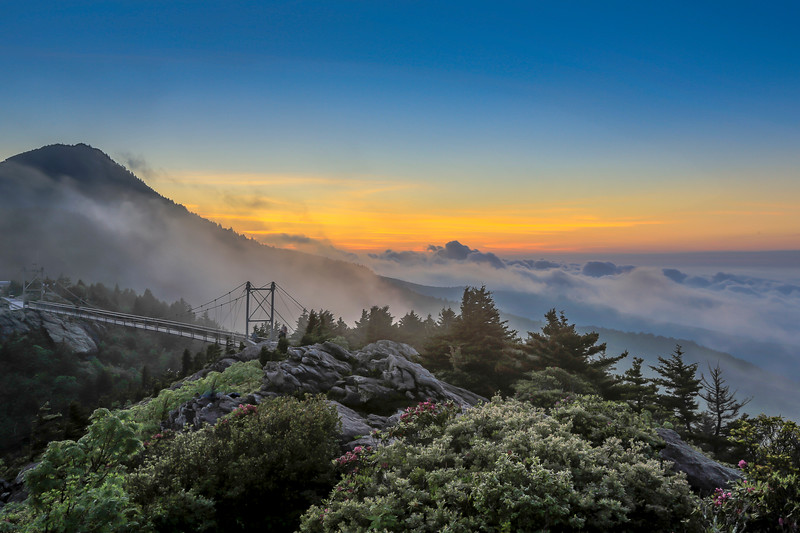 """Sunrise at Grandfather Mountain"" (photography) by Ronald Santini"