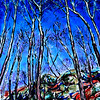 """""""Trees and rocks"""" (acrylic on canvas) by Victor Ovsyannikov"""
