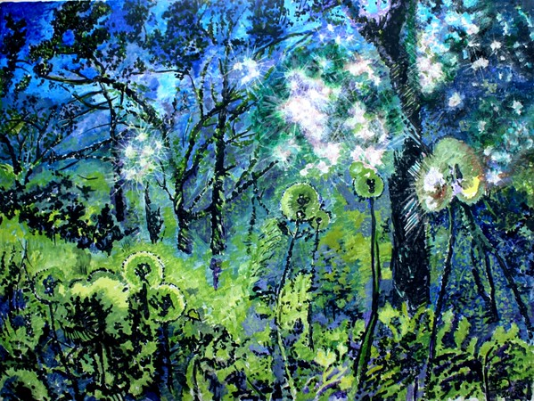 """""""Enchanted Forest"""" (acrylic on canvas) by Victor Ovsyannikov"""