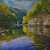 """Renfrew's Creek"" (oil on canvas) by Angelo Antonio Maristela"