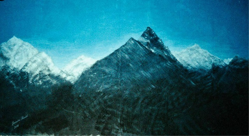 """""""Alps"""" (acrylic polymer on strectch canvas) by Jeanette Ruehl"""