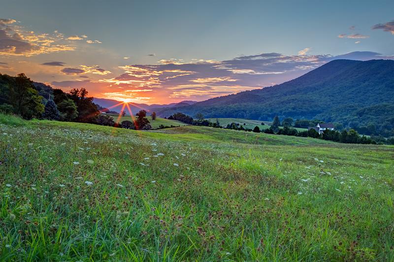 """Catawba Valley Sunrise"" (photography) by J Michael Williams"