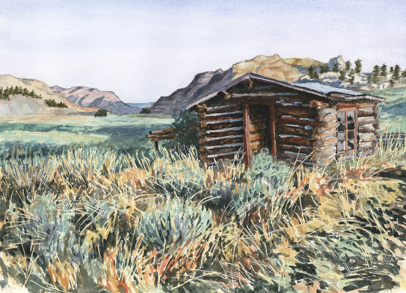 """""""At Gist Homestead"""" (watercolor) by Paul Tunkis"""
