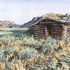 """At Gist Homestead"" (watercolor) by Paul Tunkis"