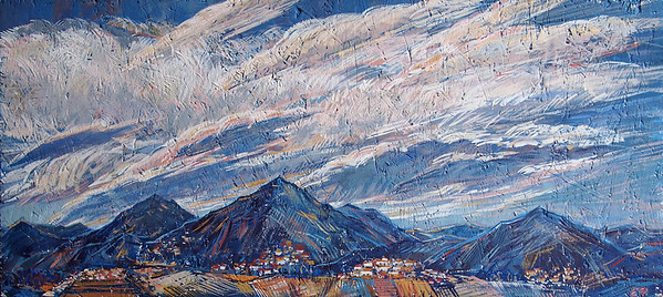 """Memories of Toscana.Sky"" (tempera on osb) by Ekaterina Fedulova"