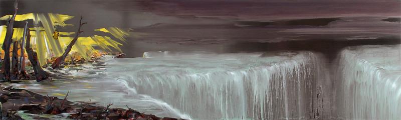 """The Falls"" (oil on stainless steel) by Jovan Karlo Villalba"