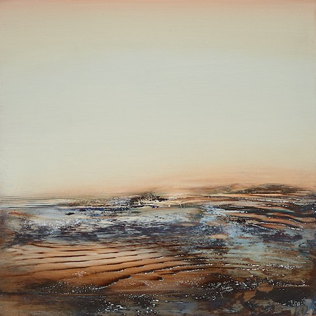 """Blue Glen"" (oil on panel) byDeborah Weiss"