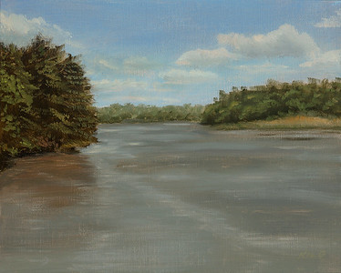 """The Tidal River"" (oil on linen/birch panel) by Kelley Hails"