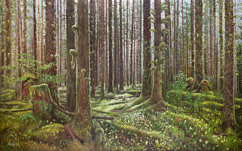 """""""Rain Forest"""" (oil on canvas) by Scott Borders"""