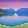 """Lake in the valley"" (oil on canvas) by Roza Djangaracheva"
