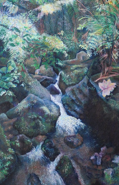 """The El Yunque Rain Forest"" (pastel) by Rupali Kumbhani"