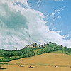 """A View of Fabro, Italy From the South"" (oil on canvas panel) by Louis Degni"