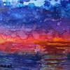 """""""13.Knockin' at Heaven's Door"""" (mixed media - alcohol ink, Luminaire, acrylic) by Ilona Benzel"""