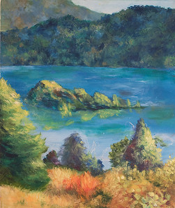 """Fanette Island"" (oil) by Margaret Adams"