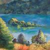"""""""Fanette Island"""" (oil) by Margaret Adams"""