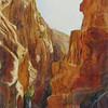 """The Siq (Petra)"" (watercolor) by Elizabeth Burin"