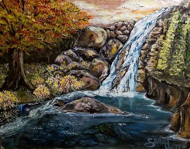 """""""Turtle Falls"""" (oil - giclee print) by Shauna Britt"""