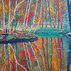 """Early Fall Birches"" (acrylic on canvas) by Eugene Kuperman"