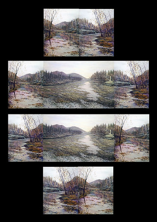"""Peaceful Silence Interchangeable Triptych"" (acrylic on canvas) by Eugene Kuperman"