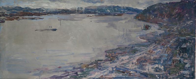 """""""Violet stream"""" (oil on canvas) by Valeriya Lakrisenko"""