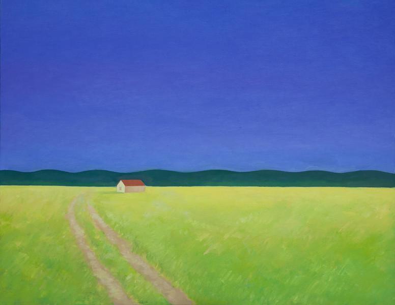 """Evening"" (oil on canvas) by Roza Djangaracheva"