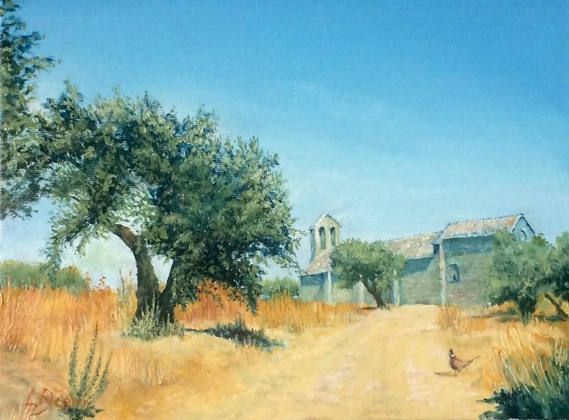 """La Chiesa di San Michele Arcangelo"" (oil on canvas panel) by Louis Degni"
