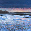 """Marshland, Early Winter"" (oil on canvas) by Scott Borders"