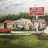 """Red Top Bait Shop"" (oil on canvas) by Crista Bromley"
