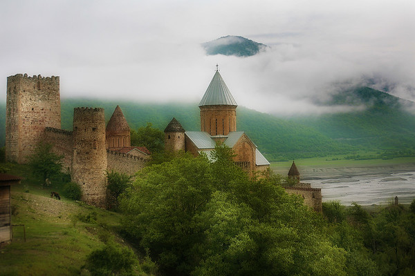 """Ananuri Fortress_Georgia"" (photography) by Alexander Novitskiy"