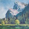 """""""Gregorian Cliffs"""" (oil) by Margaret Adams"""