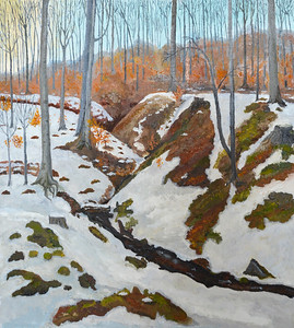 """Early sping at Cecino mountain"" (oil on canvas) by Nataliya Dovhanyuk"
