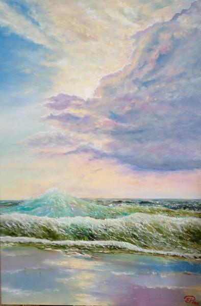 """Wet Sand"" (oil) by Elena Rachkova"