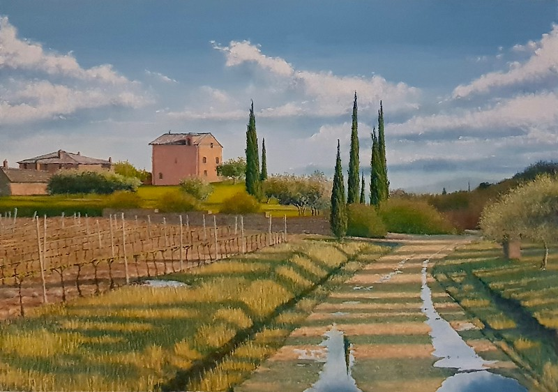 """""""After the Spring Rain"""" (oil on canvas) by Louis Degni"""
