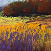 """Field and Meadow - Autumn Unhurried"" (soft pastel) by Aly Page"