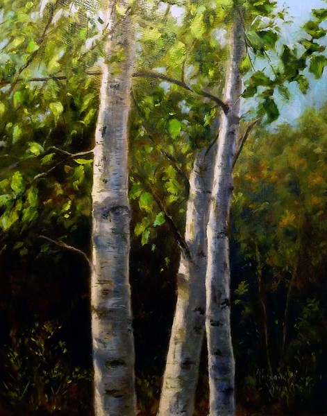 """Tres Arbores"" (oil) by Alexandra Kopp"