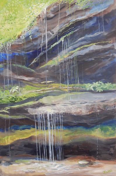 """""""Waterfall"""" (acrylic) by Joy Parks Coats"""