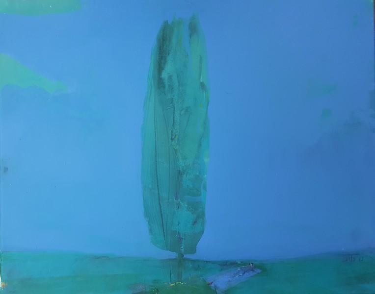"""Calmness"" (acrylic on canvas) by Bato Bostandzic"